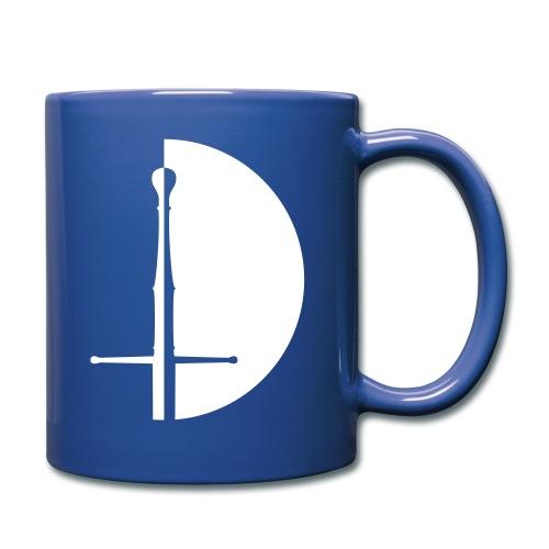 Design Logo weisse Hälfte - Tasse einfarbig