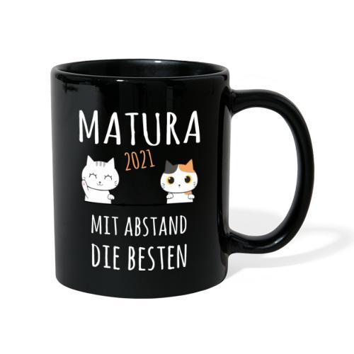 Matura 2021 Schule Corona Katze Shirt Geschenk - Tasse einfarbig