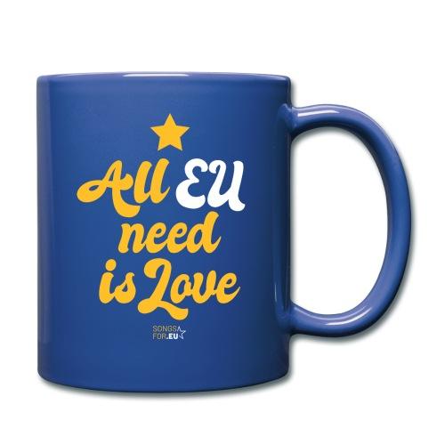 All EU needs is Love   SongsFor.EU - Full Colour Mug