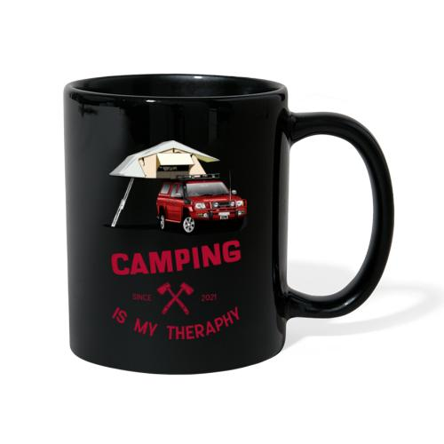 Camping is my Theraphy Dachzelt - Tasse einfarbig