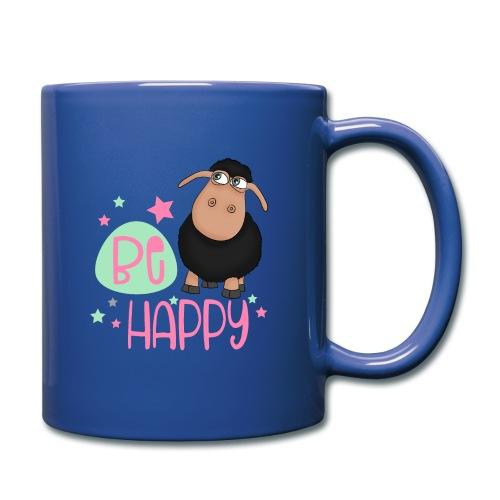 Black sheep - be happy sheep Happy sheep - Full Colour Mug