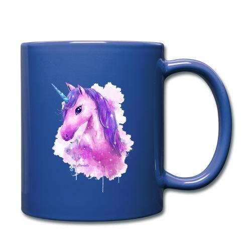 Unicorn by Clarielle LOGO NEU - Tasse einfarbig