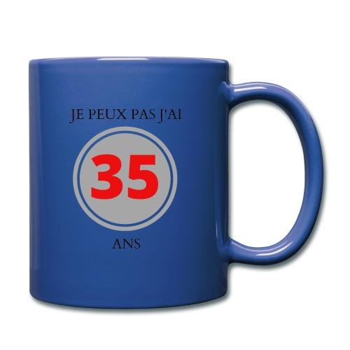 MUG: JE PEUX PAS J'AI 35 ANS - Mug uni