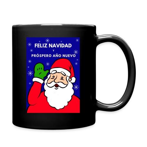 Taza navideña Santa Claus, Feliz NaNavidad - Taza de un color
