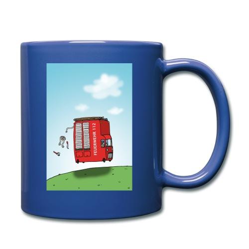 Feuerwehrwagen - Tasse einfarbig