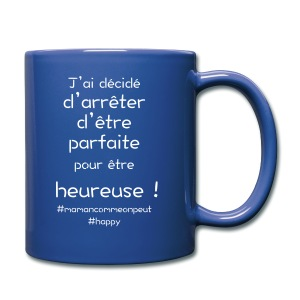 t-shirt_happy_white - Tasse en couleur