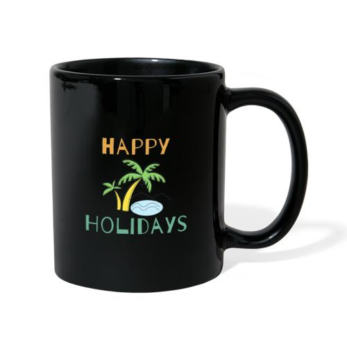 Happy Holidays - Tasse einfarbig