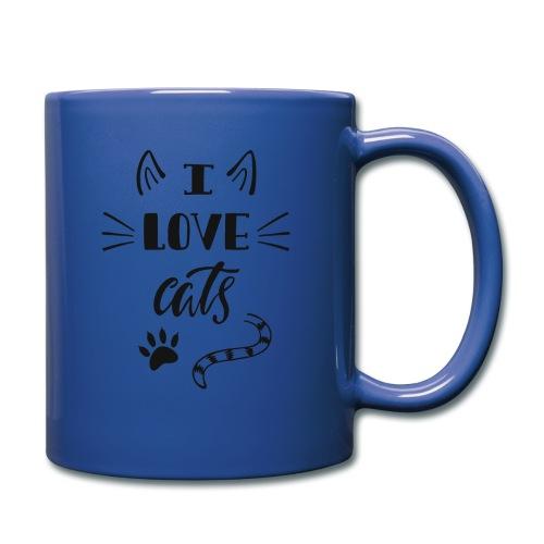 I love cats - Tasse einfarbig