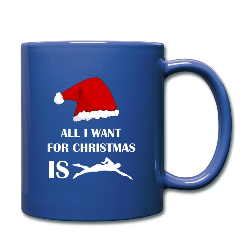All I Want For Christmas Is Swim - Tazza monocolore