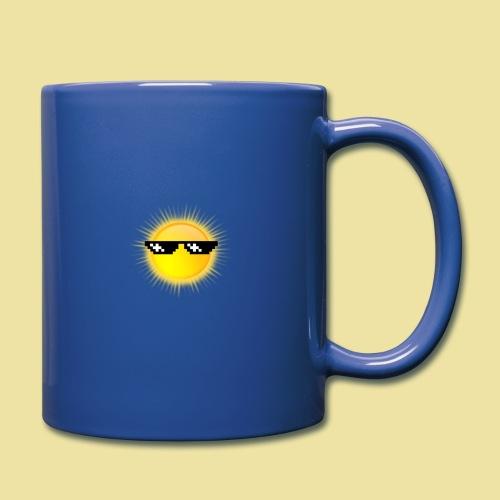 coole Sonne mit Sonnenbrille - Tasse einfarbig