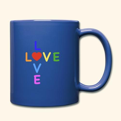 Rainbow Love. Regenbogen Liebe - Tasse einfarbig