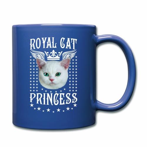26 Royal Cat Princess white feine weiße Katze - Tasse einfarbig