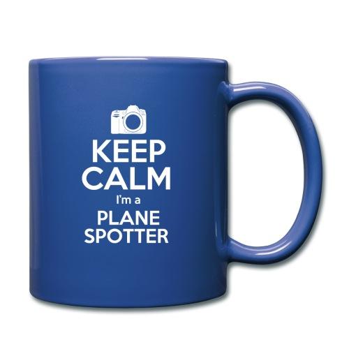 Keep Calm PlaneSpotterBIANCO - Tazza monocolore