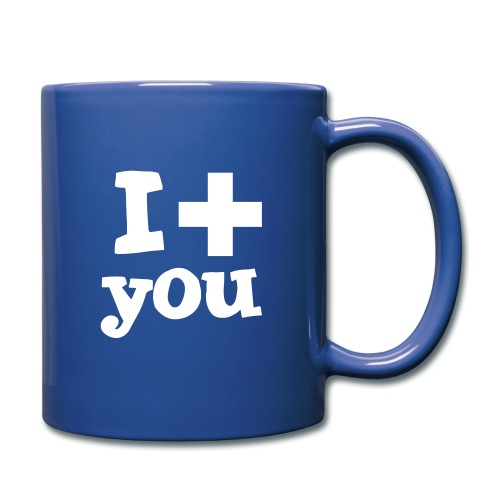 i love you - Tasse einfarbig