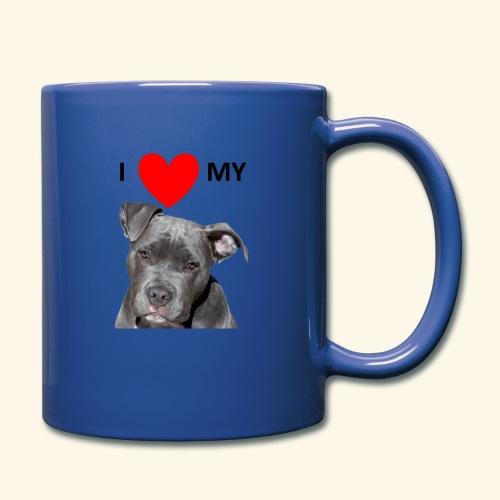 I love my Pitbull Hund Hunde Herrchen Frauchen - Tasse einfarbig