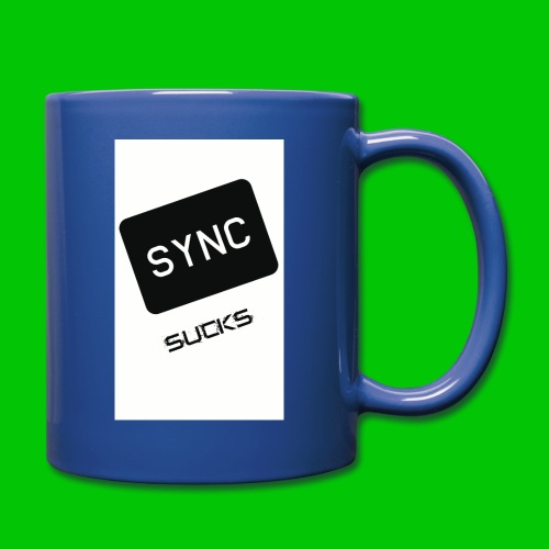 t-shirt-DIETRO_SYNK_SUCKS-jpg - Tazza monocolore