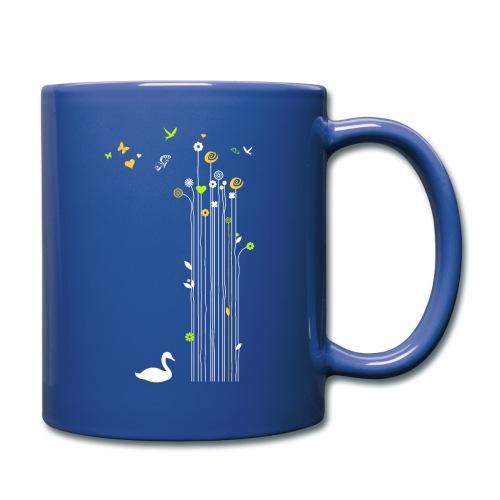 Frühling Schwan Blüten Schmetterlinge Valentinstag - Full Colour Mug