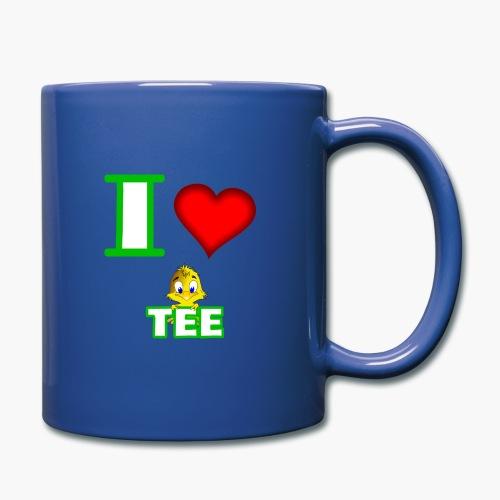 Ich liebe Tee - Tasse einfarbig