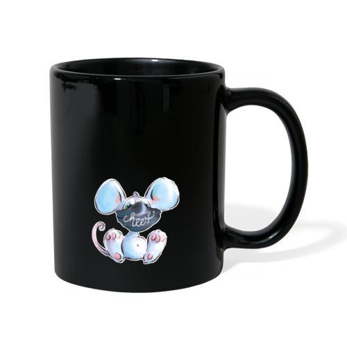 Maskenmaus - Tasse einfarbig