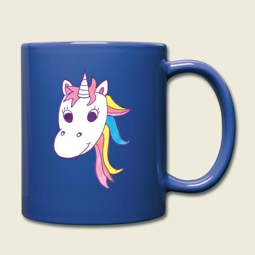 Einhorn Unicorna lila weiß bunte Mähne - Tasse einfarbig