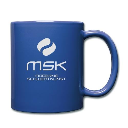 Logo_mit_schrift_2zeilig_ - Tasse einfarbig