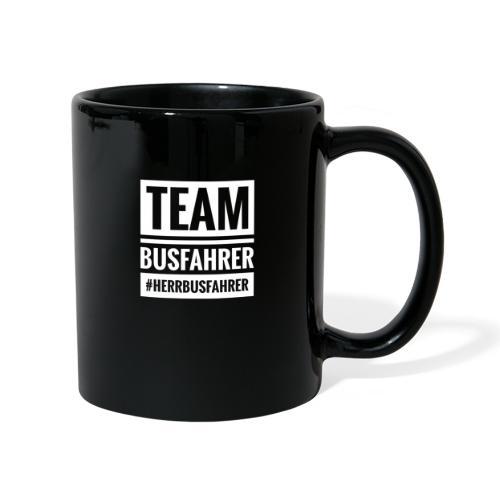 Team Busfahrer #herrbusfahrer seite - Tasse einfarbig