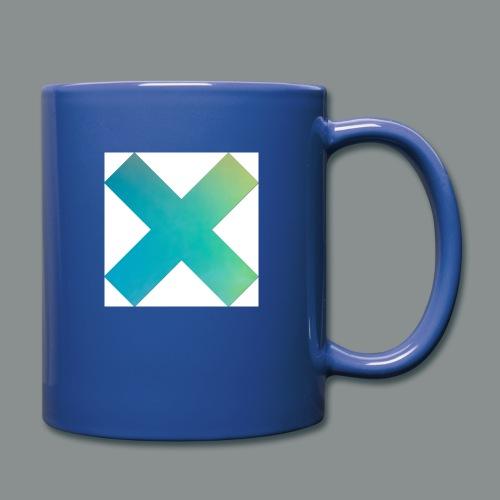 blue X - Tazza monocolore