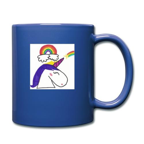 Unicorno arcobaleno - Tazza monocolore