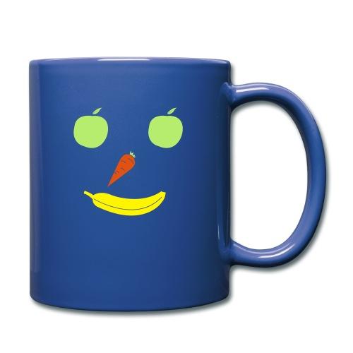 Obst Gemüse Smiley - Tasse einfarbig