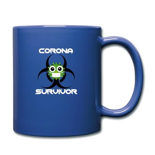Corona Survivor - Tasse einfarbig