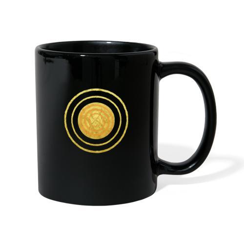 Glückssymbol Sonne - positive Schwingung - Spirale - Tasse einfarbig