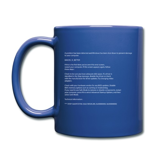 Windows BSOD - Mug uni