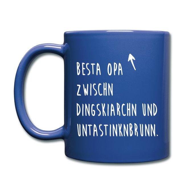 Vorschau: Besta Opa zwischn Dingskiarchn & Untastinknbrunn - Tasse einfarbig