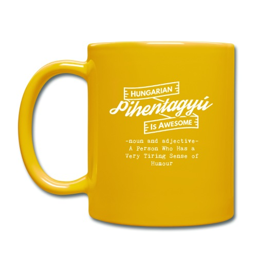 Pientagyu - Hungarian is Awesome (white fonts) - Full Colour Mug