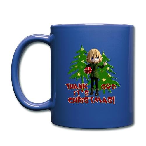 Weihnachtself Thank God it´s Christmas! - Tasse einfarbig
