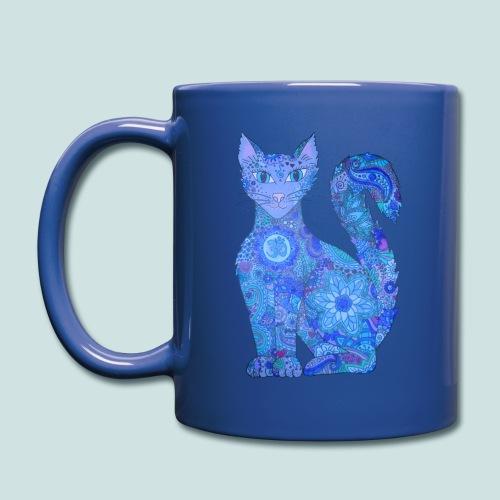 Seelenkatze blau-lila - Tasse einfarbig