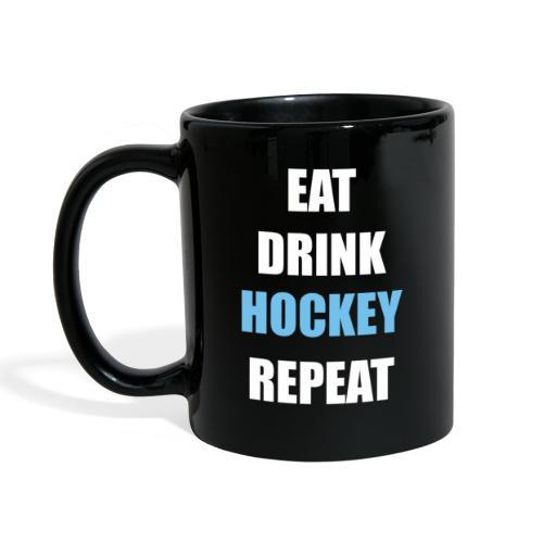 Eat Drink Hockey Repaet - Ensfarvet krus
