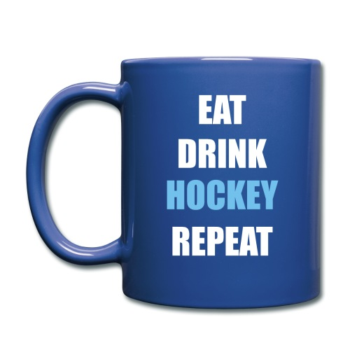 Eat Drink Hockey Repaet - Ensfarvet krus