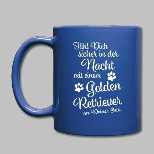 Fühl Dich sicher in der Nacht - Golden Retriever - Tasse einfarbig