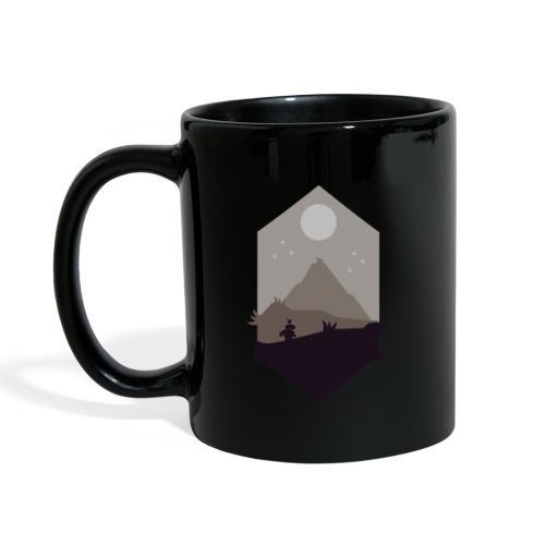 Mountain silhouette - Ensfarget kopp