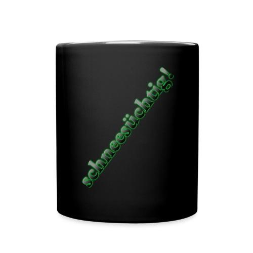 Logo Schriftzug Schwarz - Tasse einfarbig