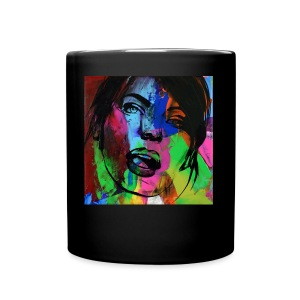 Girl face1 - Tasse en couleur