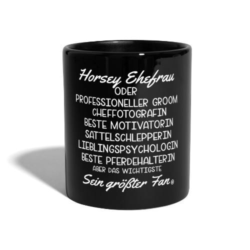 Horsey Ehefrau - Turniertrottel - Tasse einfarbig
