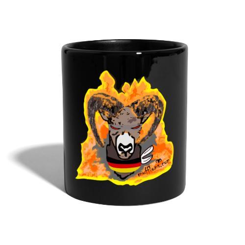 Mufflon in Flammen Germ - Tasse einfarbig