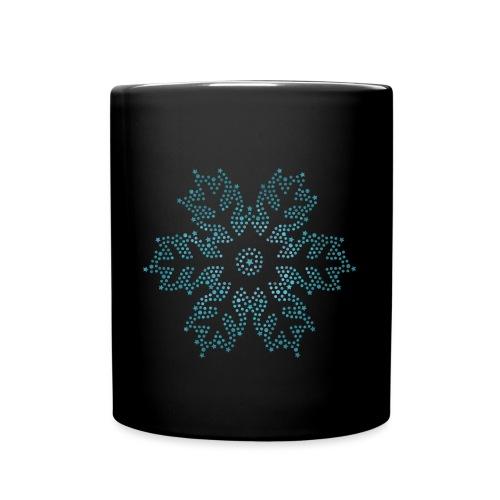 Schnee Stern, Weihnachten - Tasse einfarbig