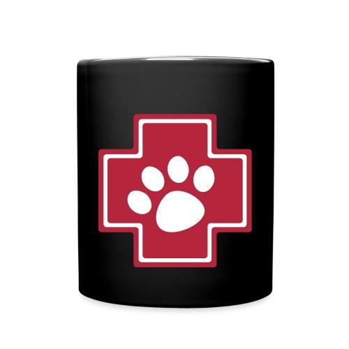 Notpfote Logo 4c rund - Tasse einfarbig