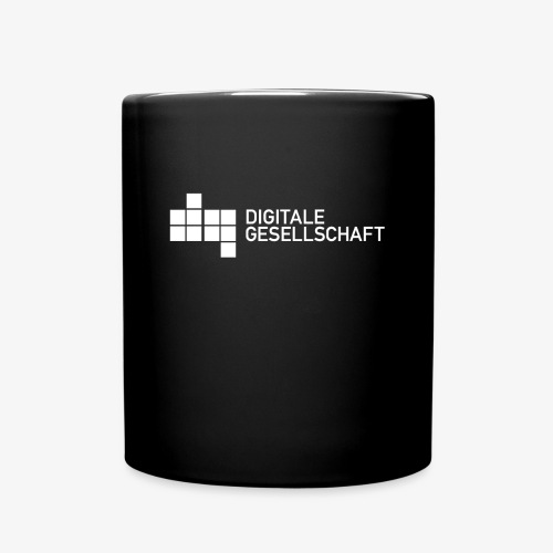 DigiGes Logo Weiß - Tasse einfarbig