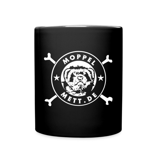 MoppelMett 1 Farbe schwarz - Tasse einfarbig