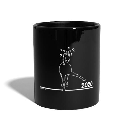 2020 Pferd Comic - Tasse einfarbig