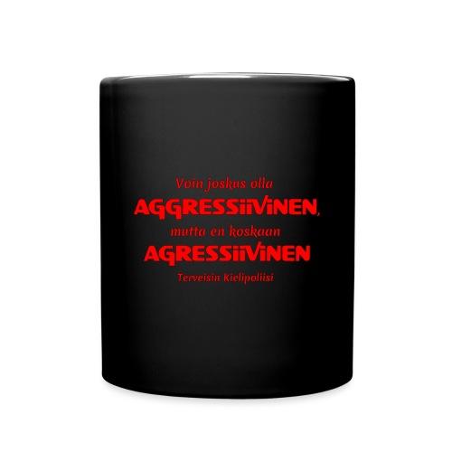Aggressivinen kielipoliisi - Yksivärinen muki